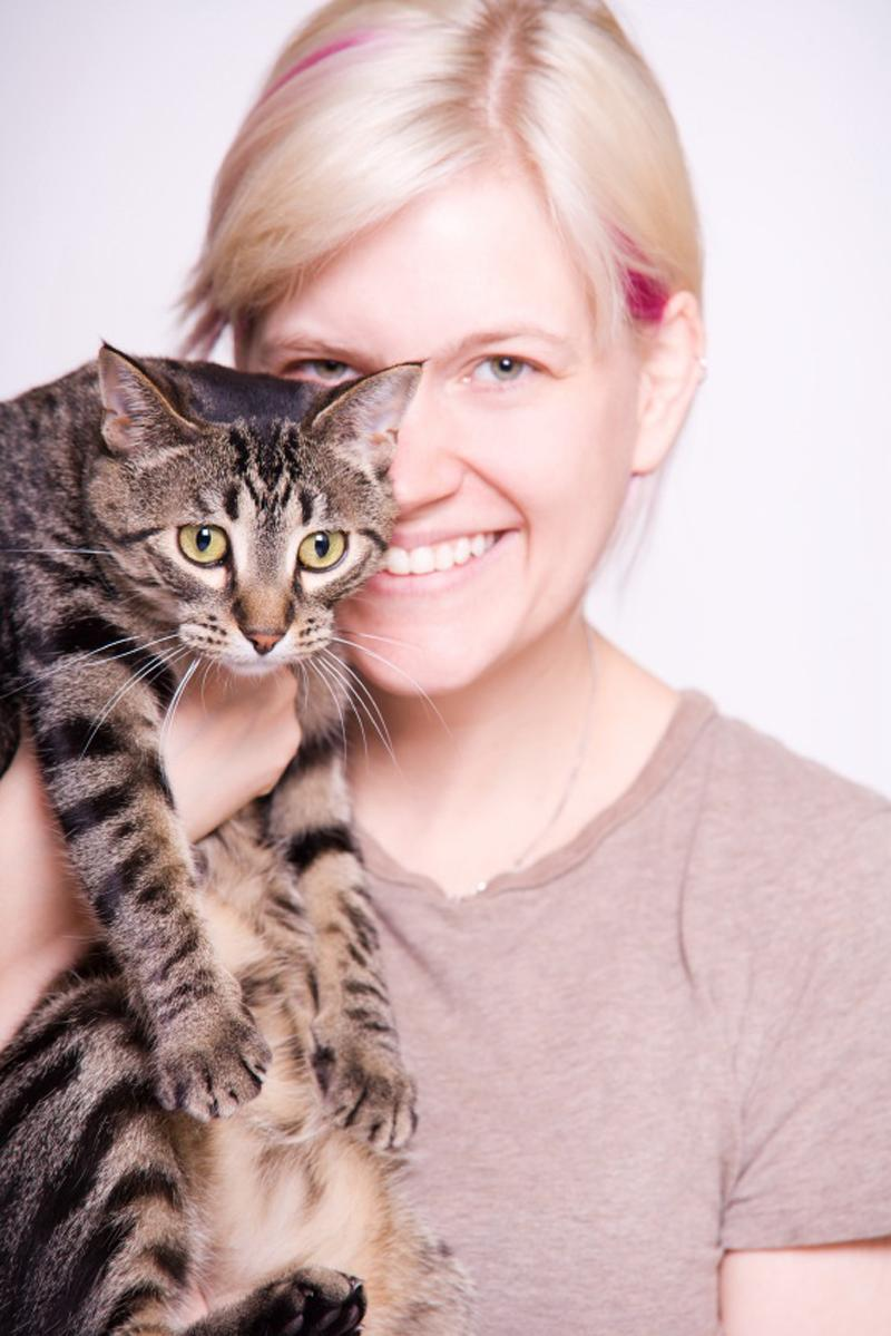 Support Animal Shelters lady holding cat